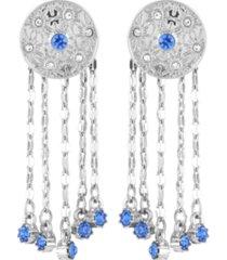 nanette nanette lepore celestial button fringe earrings