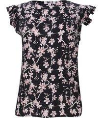 blusa con arandelas y lazo lateral color negro, talla 12