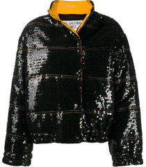 jean paul gaultier pre-owned 1990s stitching detail sequinned coat -