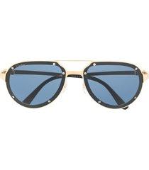 cartier eyewear tinted aviator sunglasses - gold