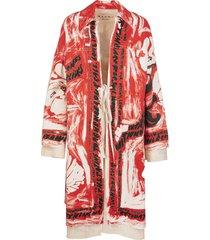 marni robe coat with ribbon closure