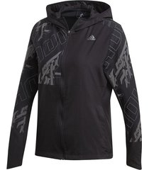 chaqueta reflectiva running adidas own the run - negro