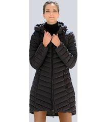 doorgestikte jas alba moda zwart
