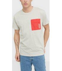 jack & jones jcoawake tee ss crew neck t-shirts & linnen ljus grå