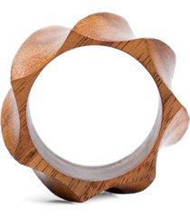 argola guardanapo wood - marrom