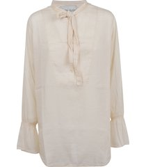 forte forte co/se voile grandfather shirt with knot