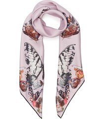 butterfly decay graphic twill foulard scarf