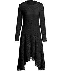 lacey jersey dress
