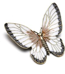 elegante spilla a forma di farfalla colorata retro antico colthing accessori inserisci pin regalo per le donne