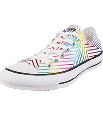 zapatilla blanca converse  chuck taylor all star rainbow