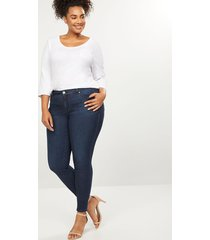 lane bryant women's eco-chic signature fit straight jean 26 dark denim