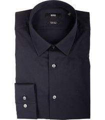 hugo boss overhemd eliott donkerblauw 50413751/404