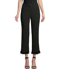 lafayette 148 new york women's manhattan double-face flare ankle pants - black - size 16