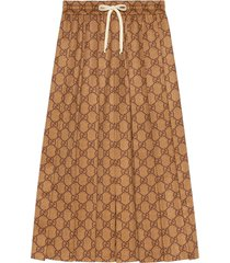 gucci gg technical jersey skirt - brown