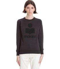 isabel marant étoile milly sweatshirt in black cotton