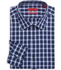mabel sharp-fit gingham dress shirt