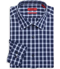 mabel sharp-fit gingham dress shirt