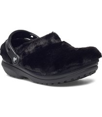 classic fur sure blk shoes summer shoes pool sliders svart crocs