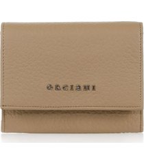 orciani cappuccino envelope wallet with logo