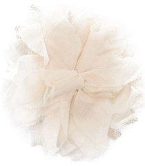 zhoe & tobiah linen flower brooch - 45 naturale