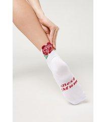 calzedonia best mum ankle socks woman white size tu