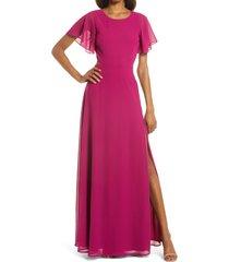 women's lulus garden bliss cutout evening gown, size x-small - purple