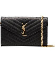 ysl monogram chain wallet