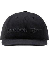 gorra negra reebok flat peak