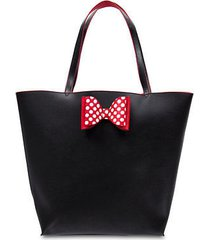 disney parks minnie mouse reversible bow tote new with tags