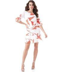 vestido richini curto floral feminino
