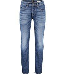 hugo boss orange jeans taber tapered fit blauw