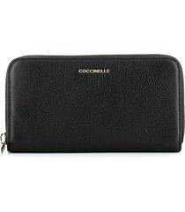 coccinelle womens black wallet