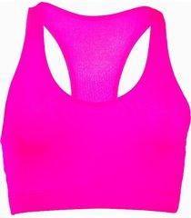 top fitness banana rosa top esportivo básico pink - kanui