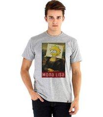 camiseta ouroboros manga curta mona lisa masculina - masculino