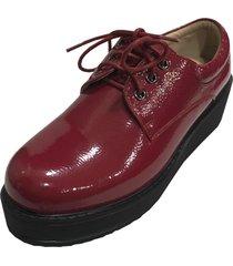 zapato plataforma rojo todopiel