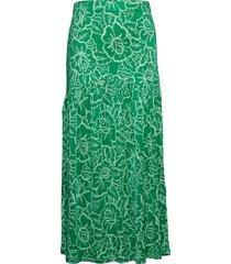 vega rose lång kjol grön rodebjer