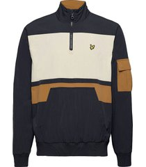 1/4 zip track jacket outerwear jackets anoraks blauw lyle & scott