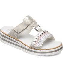 v02m6-40 shoes summer shoes flat sandals vit rieker