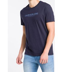 camiseta mc regular logo meia rolo gc - azul marinho - pp