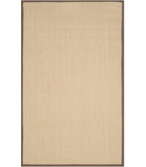safavieh natural fiber maize and brown 4' x 6' sisal weave area rug