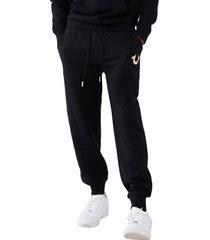 men's true religion brand jeans core horseshoe cotton blend joggers, size x-large - black