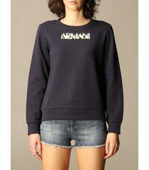 armani collezioni armani exchange sweatshirt logo crewneck