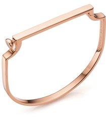 monica vinader signature thin bangle bracelet, size large in rose gold at nordstrom