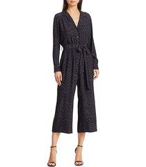 rails women's callan zebra-print jumpsuit - charcoal - size l