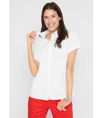 stretch blouse met korte mouwen