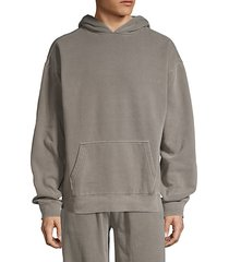 oversized cotton-blend hoodie