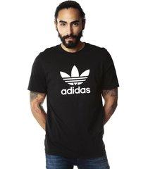 camiseta negra adidas originals trefoil t-shirt