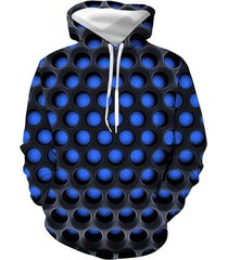 burning honeycomb briquette graphic front pocket hoodie