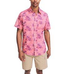 nautica men's classic-fit island-print shirt