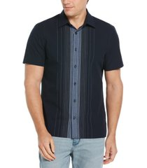 men's engineered chest stripe short sleeve button - down shirt